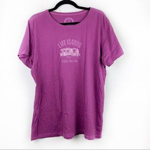 LIFE IS GOOD Purple Short Sleeve Graphic Tee XL